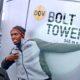 BOLT TOWER - pokřtění Usainem Boltem