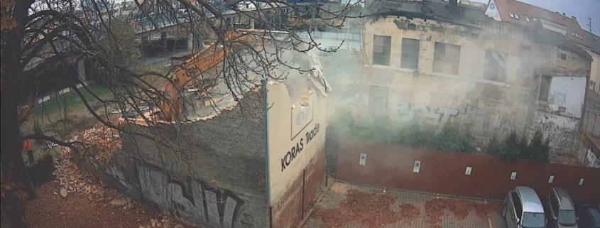 Dokumentace demolice dvou budou v Ostravě na ulici Českobratrská.