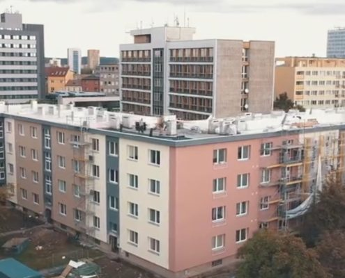 Dokumentace stvaby na Fráni Šrámka v Ostravě