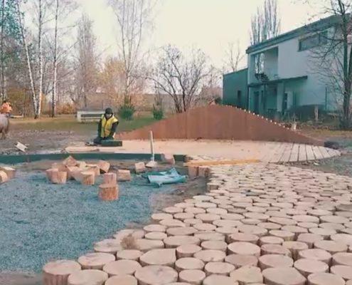 MŠ U Dvoru – Přírodní učebna v zahradě